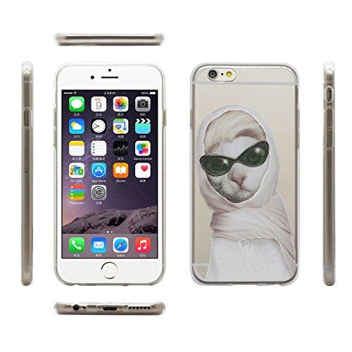 """iprotect Housse de protection Soft Case - Édition Shakespeare Chien en gris - Apple iPhone 6 (4,7"""") Princess Chat blanc"""