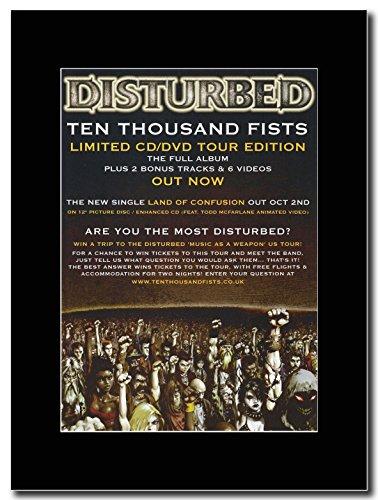 disturbed-diecimila pugni. Magazine promo su una montatura nero