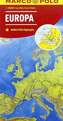 Europa 1:2.500.000 (Carte stradali Marco Polo)