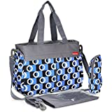 Insular Large Capacity Waterproof Nappy Baby Diaper Mummy Bag Travel Backpack Purple