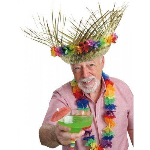 Damen Herren Erwachsene Hawaii Girlande Lei Stroh Sommer Party Kostüm Hut Zubehör