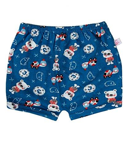 Sofie & Sam Bio-Baumwolle 12-18 Monate Baby Shorts - Blauer Teddy