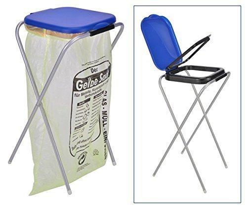 *Benelando® Praktischer Müllsackständer mit blauem oder schwarzem Deckel (Blau)*
