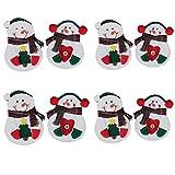Buona qualità 8 Pz/set Pupazzo di neve di Natale Posate Borsa da tavola Decorazioni di Natale Accessori per la tavola