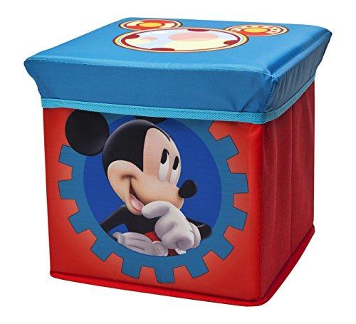 Delta Children puf de almacenaje plegable, diseño de Mickey