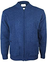 27570a0608c083 Mens Knitted Cardigan Classic Style Cardigans V Neck Zipper Jumper Plain  Coloured