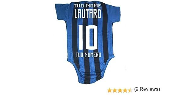 Body Neonato Inter Nero Azzurro Ufficiale Fc Internazionale PS 00746 Personalizz