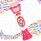 Twister.CK Kids Microphone Karaoke Music Toys, Voice Changer Toy Microphone Machine Toddler Recording, Party Favor Great Birthday for Girls, Pink