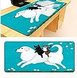 Tapis de souris Chat mignon cheval d'équitation doux antidérapant rectangle grand tapis de souris tapis de souris pad pc ordinateur portable souris de jeu Chat mignon cheval d'équitation doux antidér