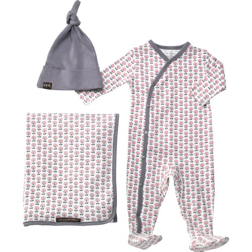 petunia-pickle-bottom-snuggle-set-set-for-baby-3-6-meses-marron-mod-mum