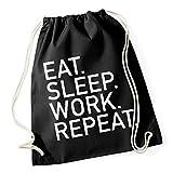 Certified Freak Eat Sleep Work Repeat Gymsack Black