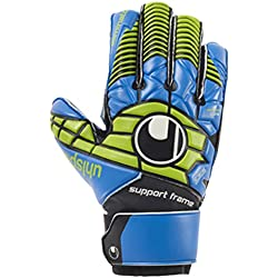 Uhlsport Eliminator Soft Sf Guantes, Unisex niños, Negro / Azul / Verde (Power), 5