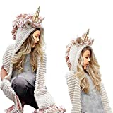 Best Gifts For 7 Yr Old Girls - Girls Hoodie Hat Scarf, SevenPanda Unicorn Tassel Wool Review
