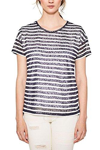 edc by ESPRIT Damen T-Shirt Mehrfarbig (Dark Blue 405)