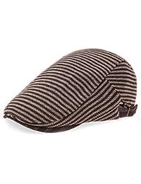 TYGRR Sombrero Británica Lunbei Lei Señora Masculina Grueso Gorro De Lana  Rayas hacia Adelante Sombreros Gorras ab22fa672ec