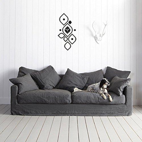 Moderne Wanduhr Design Wandtattoo Dekoration Uhren NEU Schwarz WOW Picture