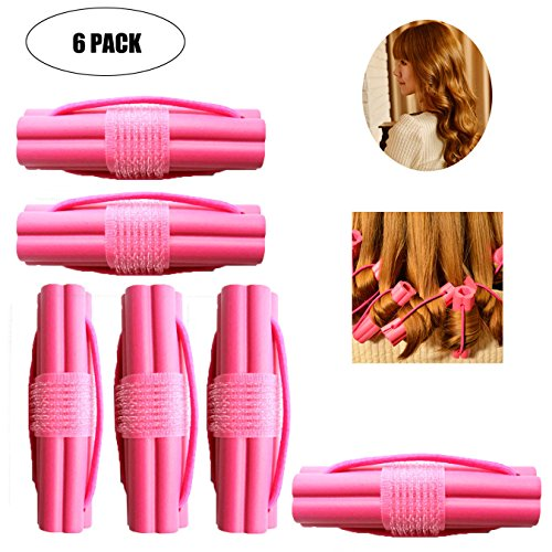Hair Curler Roller Hair Roller Set Soft and Comfortable Hair Curlers Hair Curling Styling Twist Tool DIY Cosmetic Tools for Female – Pack of 6