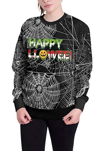 men Herren Halloween Kostüm Shirt Pullover Kapuze T-Shirt Sweatshirt M Schwarz-6 ()