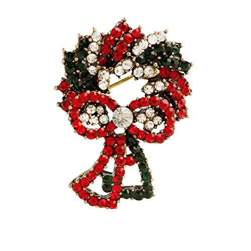 Demarkt Brosche Adventskranz Weihnachtsbrosche Pin Weihnachten Kleid Dekorationen Gold (Gold Kleider Weihnachten)