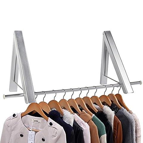 Bedee Klappbar Kleiderhaken Klappbarer Kleiderständer Aluminium Wand Garderobenhaken Kleiderlüfter Platzsparend für Wohnzimmer, Schlafzimmer, Büro, Einfach zu Installieren (2