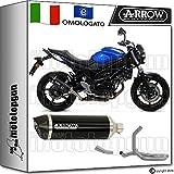 Arrow Auspuff Komplett Kat race-tech Aluminium Dark Carby Suzuki SV 65020161671846AKN + 71645KZ + 71646Ich