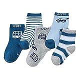 Minuya Kinder Baby Jungen Mädchen Baumwolle Socken Rohr Socken 5 Paare 1-10 Jahre