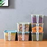PENADIA Plastic Storage Jar Set - 1600 ml, Set of 6, Multicolour