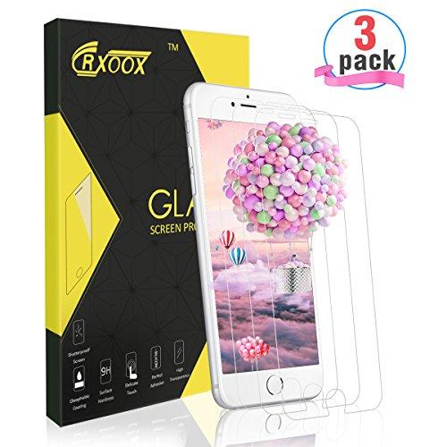 Panzerglasfolie für iPhone 7 Plus/8 Plus, [3 Stück]CRXOOX Ultra-klar, Schutz vor Wasser, 9H Härtegrad Gehärtetem Glas, Anti-Öl und Fingerabdruck, Displayschutzfolie für iPhone 7 Plus/8 Plus