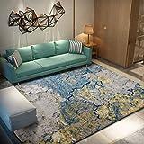 Clothes UK- Tappeto d'Arte Astratta per Sala da Pranzo Ingresso Corridoi Tappetino Area Antiscivolo Tappeto colorato, Spessore: 12mm Tappeto (Colore : A, Dimensioni : 160X230CM)