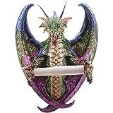 Montado en la pared oscuro Legends Dragon portarrollos de papel higiénico dragón y la fantasía regalos PDS