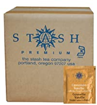 Stash Tea Cinnamon Vanilla Herbal Tea, 100 Count Box of Tea Bags in Foil