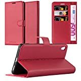 Cadorabo Coque pour Sony Xperia XA Ultra en Rouge Cerise – Housse Protection avec Fermoire Magnétique, Stand Horizontal et Fente Carte – Portefeuille Etui Poche Folio Case Cover