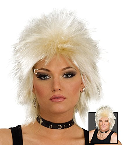 Blonde 80's Rock Idol Wig