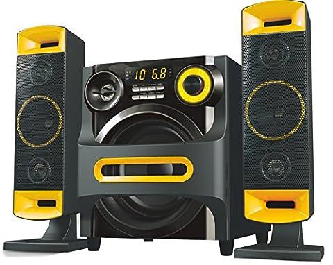 800W PMPO (70W RMS) 2.1 Channel Bluetooth Speaker Karaoke AUX FM SD USB Input Remote Control