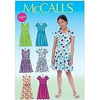 McCall's Patrones de Costura para MC7079 tamaños 7/8/10/12/14 Patrones de Costura para Vestidos de niña Plus