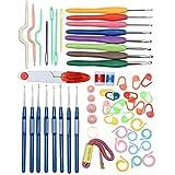 MF Tech Premium–Set de agujas de ganchillo, cuchillo, incluye ganchos premium, dedal, cinta métrica, tapa para agujas, agujas, anillos para marcar.