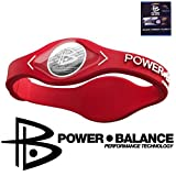 PowerBalance Silicone Wristband Power Balance Armband Red-White L