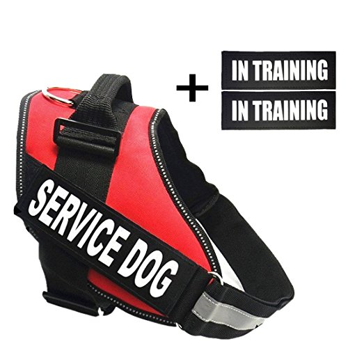 fairwin-service-dog-harnessvest-k9-no-pull-adjustable-with-reflective-service-dog-patches-l-fits-gir