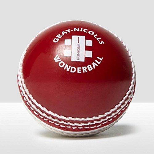 GRAY-NICOLLS Wonderball Schwing-Cricketball, Rot/Weiß, Erwachsene