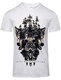 Official T Shirt BRING ME THE HORIZON White WOLVEN Version 2 XL