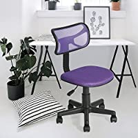 Office Chair Fanilife Adjustable Mesh Design Kids Computer Seat Desk Task Chair Swivel Armless Children Study Chair Purple