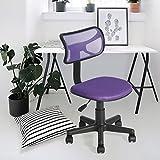 Fanilife Drehstuhl Schreibtischstuhl Bürostuhl Kinder Arbeitsstuhl verstellbar, gepolsterte Sitzflaeche aus Netz, Lila