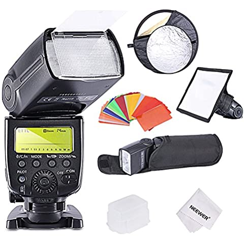 Neewer® E-TTL/E-TTL II HSS MASTER/Slave Flash Kit per Canon fotocamere DSLR, include: (1) MK600rigida + (Filo D'avviamento Unità)