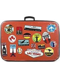 17x Bagage Autocollants valises étiquettes de Voyage Vintage rétro Vintage Style Vinyle Autocollants