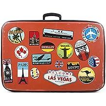 Pegatinas de equipaje parches de maleta Etiquetas de viaje vintage vinilos de estilo vintage retro