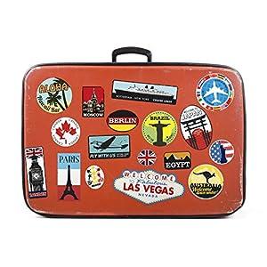 Adesivi per Bagagli Le valigie Etichette di Viaggio d'Epoca Decalcomanie di Vinile in Stile Vintage