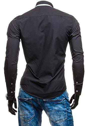 BOLF - Chemise casual – manches longues – BOLF 5818 - Homme Noir