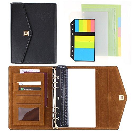 SynLiZy A5 PU Leder Personal Organizer Planer Notizbuch Set mit 12 Zubehör (A5 Binder)