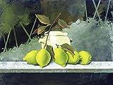 Artland Qualitätsbilder I Poster Kunstdruck Bilder 40 x 30 cm Stillleben Arrangements Lebensmittel Malerei Grün I7ZX Freiligende Zitronen