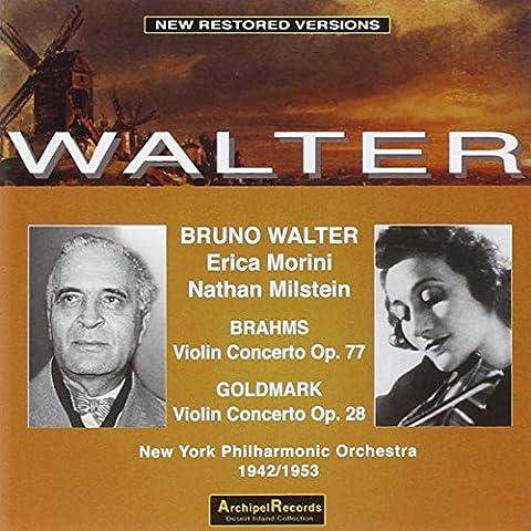Walter - Erica Morini, Nathan Milstein : Brahms,